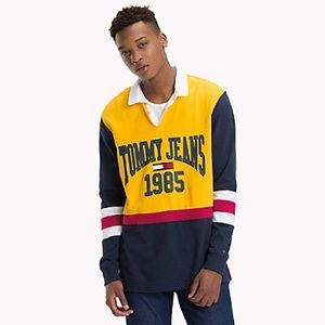 TOMMY JEANS RETRO COLORBLOCK COLLEGE RUGBY SHIRT